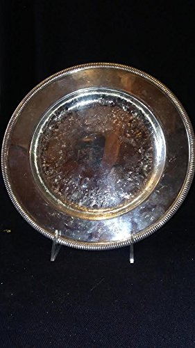 (Silver Plated Round Tray BY WM ROGERS MFG)