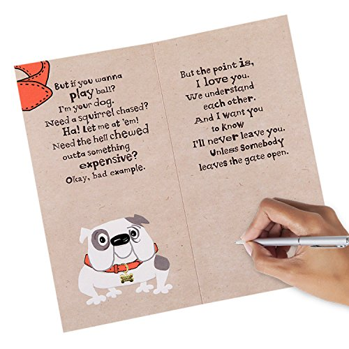 Hallmark Funny Father's Day Greeting Card from the Dog (I'll Never Leave You) Photo #5
