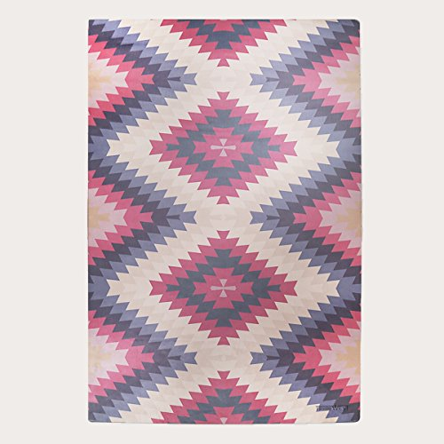 Tribe WEST Baby Playmat Easy Clean 6' X 4' Activity Floor Mat for Crawling Babies, Toddlers, Boy Or Girl, Natural Rubber, Durable, Indoor and Outdoor, Supports Artisans: Mexican Kilim ()