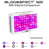 BLOOMSPECT Upgraded 600W LED Grow Light with Daisy