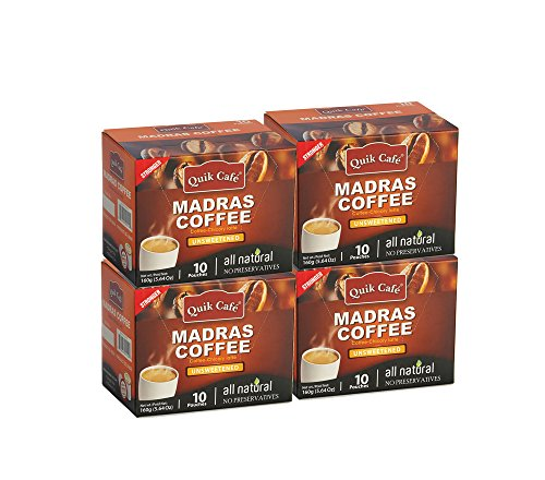 QuikCafe Madras Coffee,10 count,Pack of - Coffee South Indian Filter