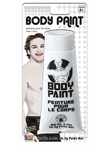Forum Novelties 3.4 Oz White Fx Washable Body Face Paint Sports Fan Halloween Cream Tube Makeup -