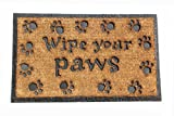 "Wipe Your Paws Boot Scraper Door Mat Natural Coir and Rubber Size 18"" X 30"""