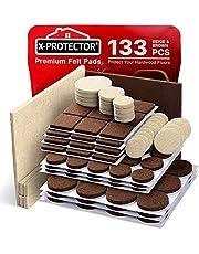 Vilt Meubelpads X-PROTECTOR Premium Meubelpads - Vilt Pads Meubelvoeten Beste Houten Vloerbeschermers - Bescherm uw hardhout en laminaatvloer!