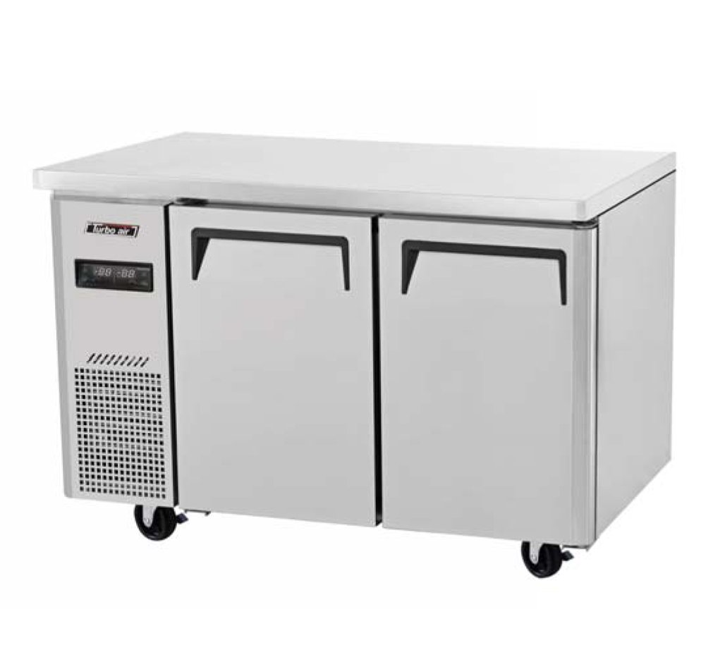 "Turbo Air EUR-48-N6 48/"" Two Solid Door Undercounter Refrigerator 12.18 cu ft."