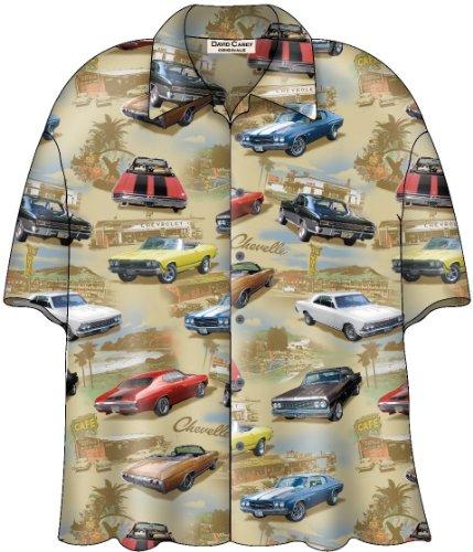Chevy Chevelle SS Classic Cars Camp Hawaiian Shirt by David Carey (XL)
