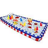 Outdoor Inflatable Buffet Cooler Server - Patriotic Red White and Blue Blow Up Cooling Tub For Serving Buffet Style Picnic