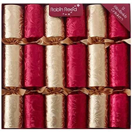 [Decadence Red Gold Christmas Crackers] (Gold Christmas Crackers)