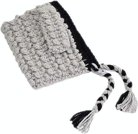 Handmade Wool Knit Hand Hook Baby Girl Winter Warm Fox Ear Shawl Cap Children Hat