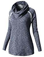 H2H Women's Long Sleeve Comfy Loose Fit Turtle Cowl Neck Knitted Sweater