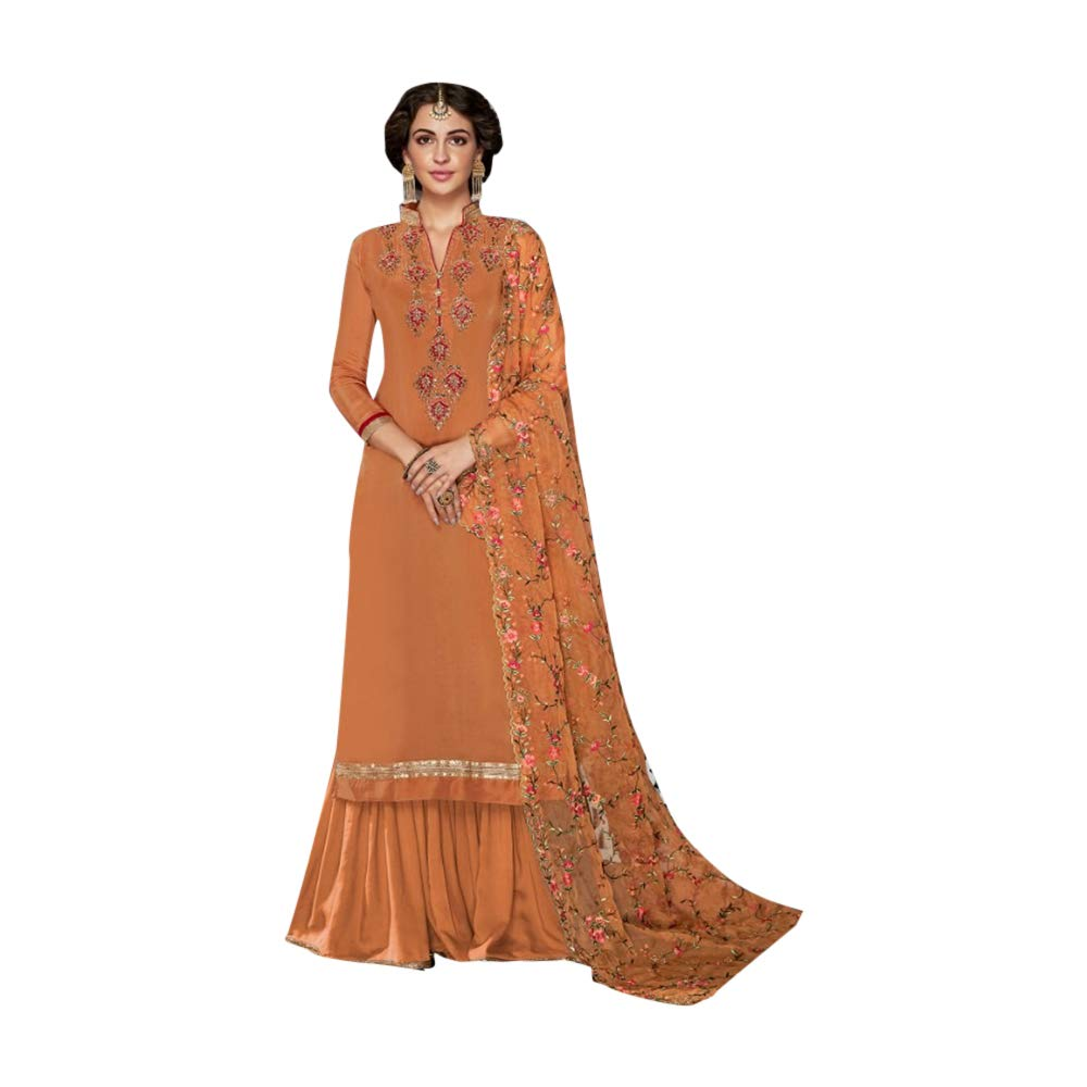 d17c6479eb7311 Amazon.com: Red Gorgeous Stylish Party Wear Plain Saree with Border  Festival Sari Indian Silk Handwork Blouse 7444: Home Improvement