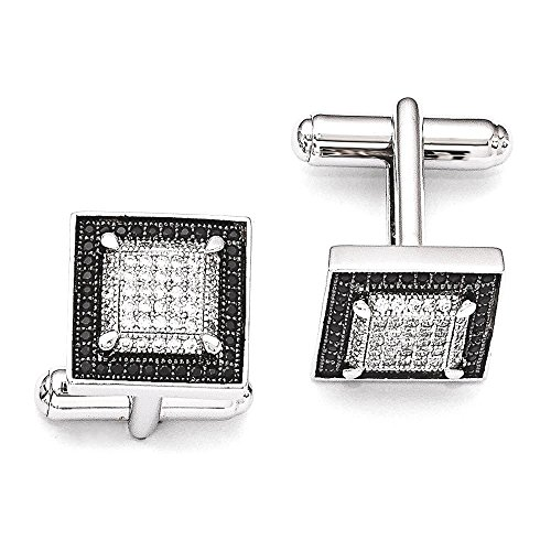 Cubic Zirconia Cufflinks (ICE CARATS 925 Sterling Silver Cubic Zirconia Cz Cuff Links Mens Cufflinks Man Link Fine Jewelry Dad Mens Gift Set)