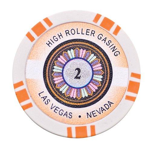 Lion Games & Gifts Europe 11.5 g High Roller Value 2 Chip (Orange) ()