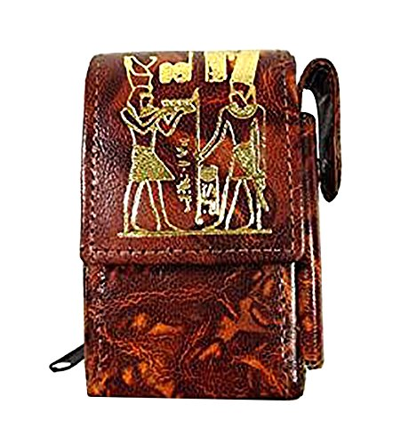 Cigarettes Egyptian - Egyptian Cigarette Case Cover Genuine Hand made Leather Handcrafted Ethnic 221