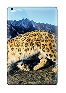 6727038K47945272 Ipad Mini 3 Case Slim [ultra Fit] Prowling Snow Leopard Protective Case Cover