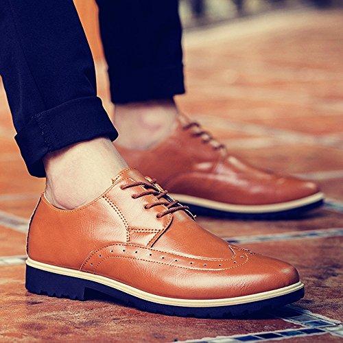 Lace PU Shoes 41 Platform Up Autumn Men Fashion TM Spring Leather Design KAKA qnY76w8Px