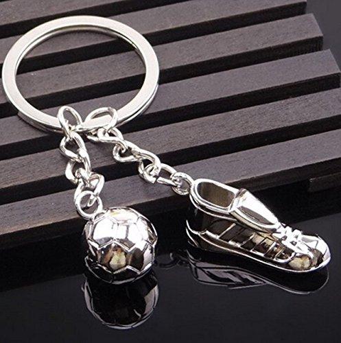1 Pc Metal Soccer Shoes Football Keyrings Pendants Teen Keys Strap Ball Puff Key Finder Important Popular Pocket Women Bag Car Keychain ()
