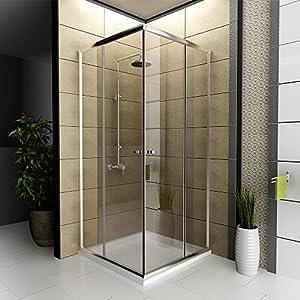 duschkabine dusche eckeinstieg 90 x 90 x 190 cm duschabtrennung modell fugo eckeinstieg. Black Bedroom Furniture Sets. Home Design Ideas