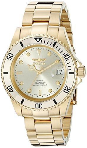 Invicta Men's 18508 Pro Diver Analog Display Swiss Automatic Gold Watch