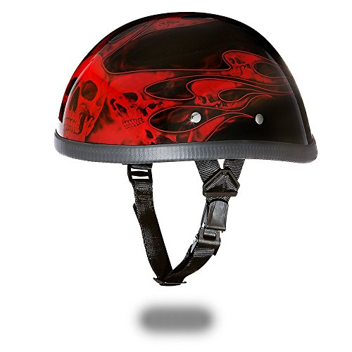Eagle with Skull Flames Red Motorcycle Helmet