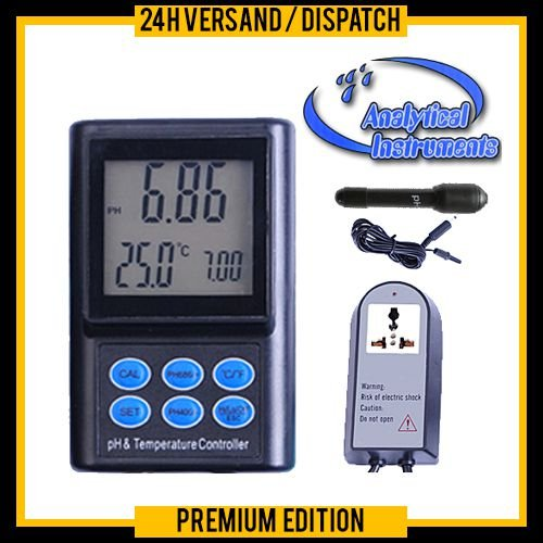 PH & Temperatur Controller Regler Meter (wasserdichte Mini-Elektrode) Schwimmbad, Koi, Winzer P14