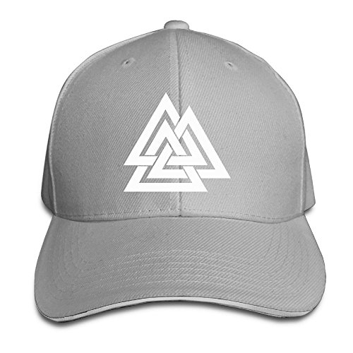 Runy Custom Valknut Logo Adjustable Sandwich Hunting Peak Hat & Cap - Symbol Tory Burch