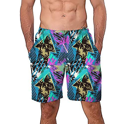 [해외]짧은 바지 비치 웨어, 남성 캐주얼 3D 낙서 인쇄 해변 작업 캐주얼 남성 짧은 바지 반바지 바지 / Short Pants Beach Wear,Men Casual 3D Graffiti Printed Beach Work Casual Men Short Trouser Shorts Pants