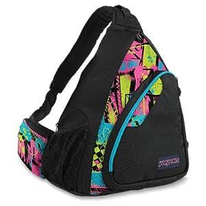 JanSport Core Series Air Cisco Sling Bag, Black/Fluorescent Street Scene