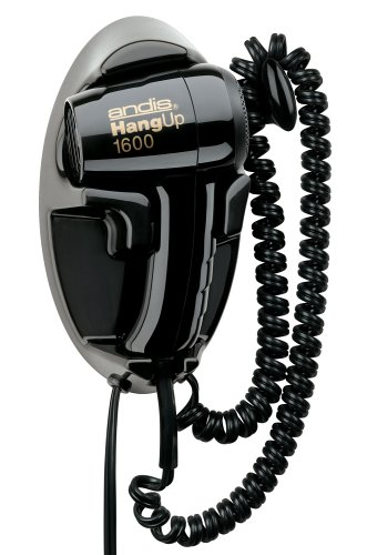 Andis 30220 Hangup 1600W Hair Dryer with Cord Hanger, Black (Hang Blow Hair Dryers Up)