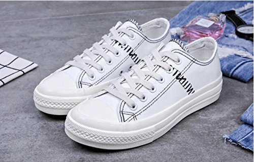 New Donna Ragazza Koyi Casual Pompe Sneakers Leggera bianco Espadrillas Board Summer Sportive Shoes Scarpe da da Canvas Gym Xq5C5