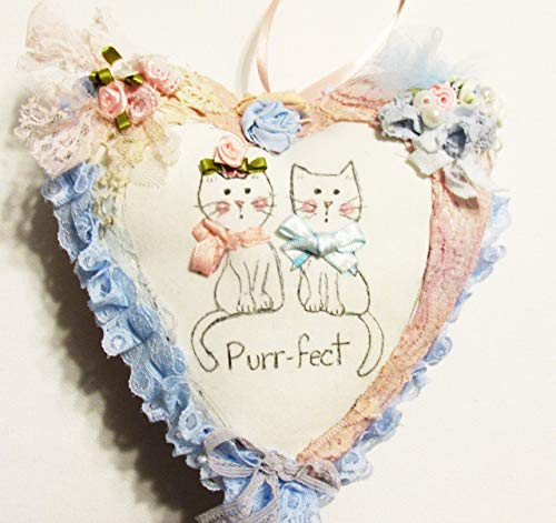 Shabby Chic Purr-fect Cats Pillow