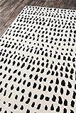 Novogratz by Momeni Delmar Boho Dots Wool Area Rug, 2'3' x 8'0' Runner, Ivory