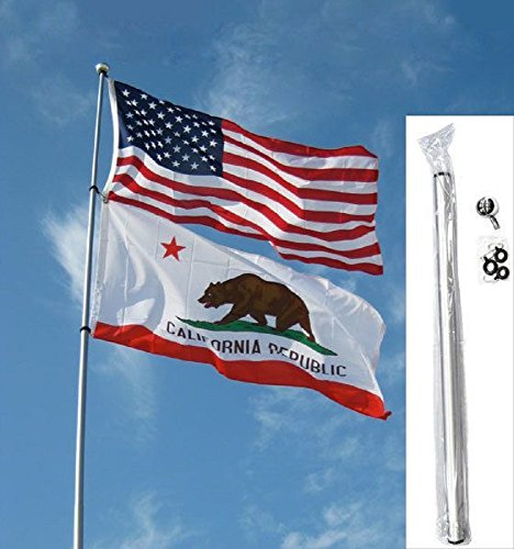 24ft (Foot) Fiberglass Telescoping Flag Pole Flagpole (24' Pole Flags)