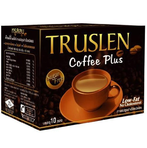 6x Truslen Instant Coffee Plus Sugar Free LOW FAT Wholesale Price Made of Thailand