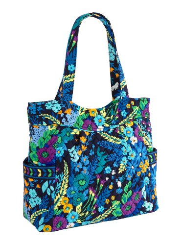 Vera Bradley Pleated Tote in Midnight Blues ()