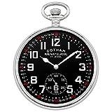 Gotham Men's Silver-Tone Mechanical Hand Wind Railroad Pocket Watch # GWC14103SB