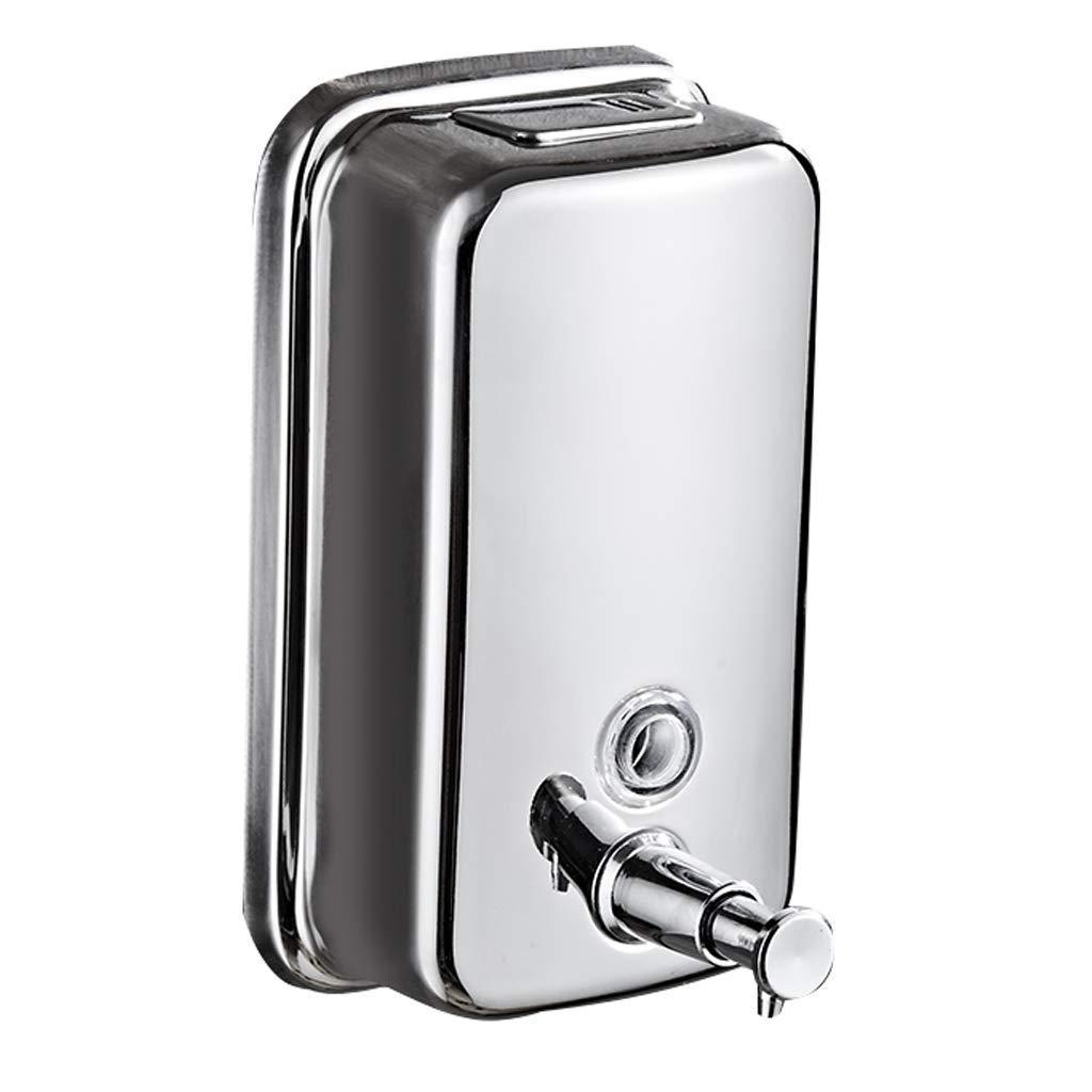 Plata 125110210mm Oudan Dispensador de jabón 304 Acero Inoxidable Multifuncional (Color  Plata, Tamaño  125  110  210 mm) (Color   Plata, tamaño   125  110  210mm)