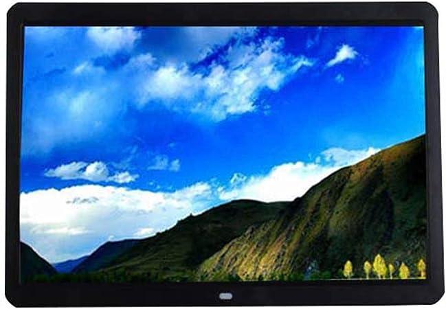 Pantalla de 15 Pulgadas Marco de Fotos Digital álbum de Fotos electrónico 1280x800 Pantalla de Alta resolución Reproductor de Fotos/música/Video Reloj Despertador Calendario Temporizador: Amazon.es: Hogar