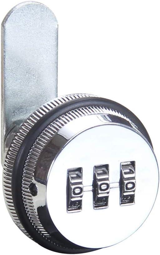 3-stellige Schublade Hardware Nockenschloss Zinklegierung Schrankt/ür Silberwei/ß Kombination codiert Sicherheit Briefkasten schl/üssellos Wei/ß Wort Zuhause