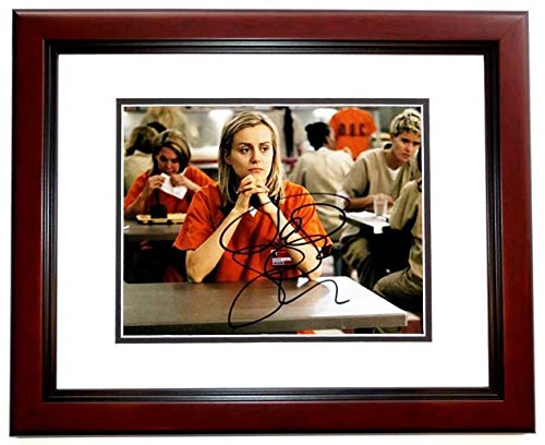 Taylor Schilling Signed - Autographed Orange is the New Black 8x10 inch Photo as Piper Chapman - MAHOGANY CUSTOM FRAME ()