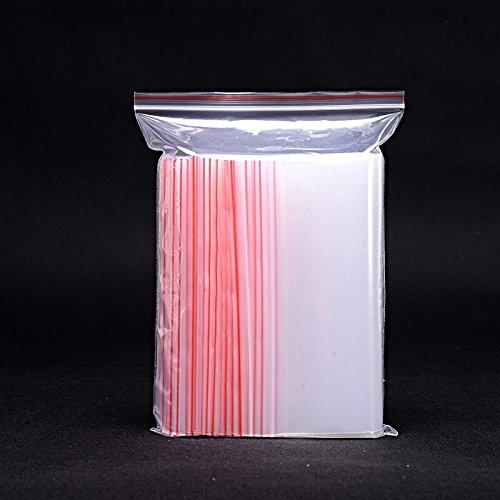 17cmx25cm Transparent Plastic Ziplock Packaging Bags Zipper Top Poly Packing Bags