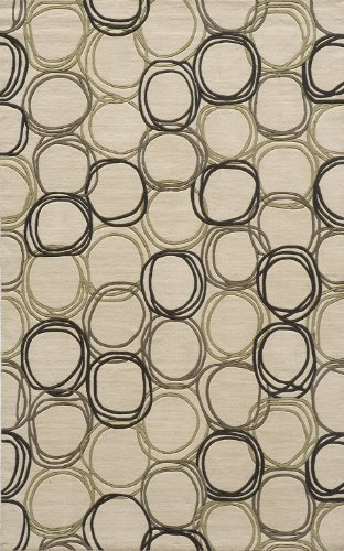Momeni Rugs ELEMTEL-34IVY80B0 Elements Collection, 100% New Zealand Wool Hand Carved Contemporary Area Rug, 8' x 11', (Momeni Elements Collection)