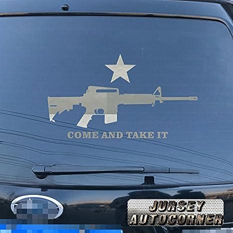 Come And Take It Molon Labe AR15 Car Truck Vinyl Sticker Decal Rifle Gun