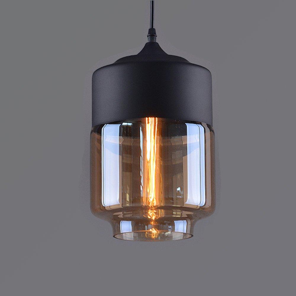 Weare Home Retro-Zylinder Durchsichtiger Glas-Lampenschirm ...