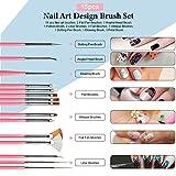 Nail Pen Designer, Teenitor Stamp Nail Art Tool