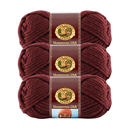 - (3 Pack) Lion Brand Yarn 135-189 Hometown USA Yarn, Napa Valley Pinot