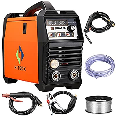 MIG Welder Inverter Mig welding 200Amp 220V DC MIG MAG ARC LIFT TIG ARC Welding Machine Gas Gasless Flux Cored Wire Solid Core Wire Welder …