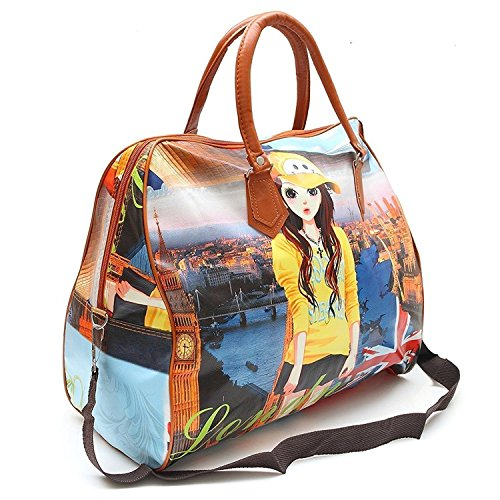 XENOTY Women's Polyester Printed Hobo Bag Hand Bag, Shopping Mall Shoulder Luggage Bag (Multicolored) (B0837XB3SS) Amazon Price History, Amazon Price Tracker