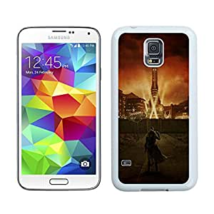 fallout city light character sky White Samsung Galaxy S5 G9008V Screen Cellphone Case Unique and Newest Design