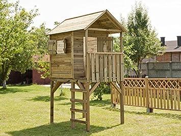 Dein Spielplatz Spielhaus Auf Stelzen Andy 110 X 170 Cm Holz